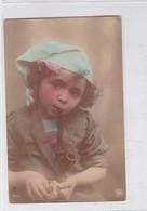 NIÑA FILLE GIRL PIPA PIPE. NPG. COLORISEE CIRCULEE BUENOS AIRES  CIRCA 1900's-. BLEUP - Fotografie