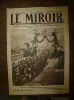 1918 LE MIROIR:USArmy;Fabrication Des Filet Anti Sous-marin;Ukraine;British Army;Navire Espagnol IGOTZ MENDI;Le WOLF;etc - Riviste & Giornali