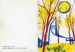 2 Cartes De Voeux De Verdun 1964 Et 1966, Imp. Frémont, église Et Porte Chaussée - Maps