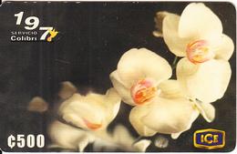 COSTA RICA - Flowers Of Costa Rica, ICE Prepaid Card C500, 04/00, Used - Costa Rica