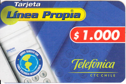 CHILE - Telefonica Prepaid Card $1000, 04/01, Used - Chile