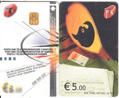 KOSOVO(chip) - PTK First Issue 5 Euro, Chip KOS3, Used - Kosovo