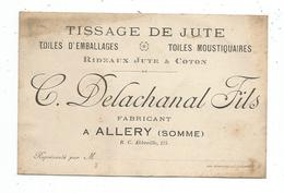 Abbeville -Tissage De Jute -Toiles - Delachanal Fils - Allery - Abbeville