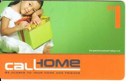 BAHRAIN - Little Girl, Call Home Prepaid Card BD 1(plastic), Used - Bahrain