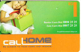BAHRAIN - Little Girl, Call Home Prepaid Card BD 1(paper), Used - Bahrain