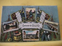 41 1809 CPA - 41 SOUVENIR DE BLOIS. EDIT. LL. (VIGNETTES ET DRAPEAUX ET MATERIELS MILITAIRES) - Blois