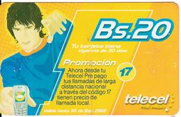 BOLIVIA - Telecel Prepaid Card Bs 20, Used - Bolivia