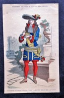 Costume SEIGNEUR DU XV111 ème Vers La Fin Du Règne De Louis X1V - Litografia