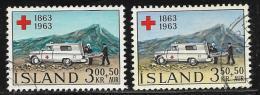 Iceland, Scott #B17-8 Used Red Cross, Ambulance, 1963 - 1944-... Republik