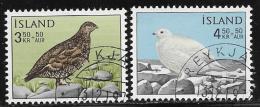 Iceland, Scott #B19-20 Used Birds, 1965 - 1944-... Republik