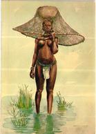 Portuguese Guinea - GUINE BISSAU - Pescadora Papel - Fisherwoman  Pêcheuse Art Vintage Postcard - Guinea-Bissau