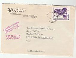 1984 POLAND Biblioteka Nardowa To UNITED NATIONS USA  Cover Tatarkiewicz Stamps - Covers & Documents