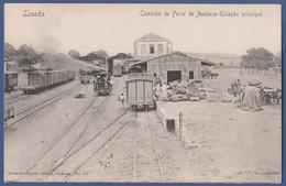 Angola - Luanda Loanda - Estação De Caminho De Ferro De Ambaca - Railway Train Station - Gare - Old Original Postcard - Angola