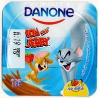 "Opercule Cover Yaourt Yogurt "" Danone "" Tom & Jerry 2 Arabic Disney Banane  Banana  Yoghurt Yoghourt Yahourt Yogourt - Milk Tops (Milk Lids)"