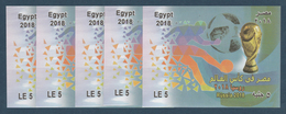 Egypt - 2018 - X5 S/S - ( Russia 2018 - Football World Cub - Soccer ) - MNH** - Nuovi