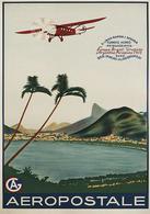 Brazil Aviation Postcard Aeropostale Correo Aereo 1930 - Reproduction - Advertising
