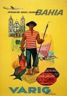 Brazil Aviation Postcard Bahia Varig 1965 - Reproduction - Advertising