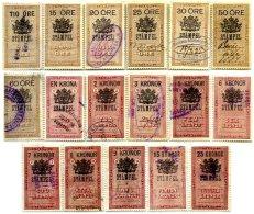 SWEDEN, Stamp Duty, Used, F/VF - Revenue Stamps