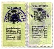 SWEDEN, Consulars, Used, F/VF - Revenue Stamps