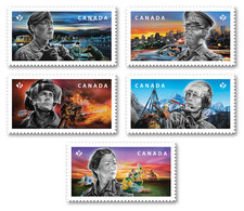 2018 Canada Emergency Responders Police Military Paramedics Firefighters Search And Rescue Stamps From Booklet MNH - Postzegelboekjes