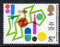 GREAT BRITAIN GB - 1977 CHEMISTRY ANNIVERSARY 8.5p STAMP FINE MNH ** SG 1029 - 1952-.... (Elizabeth II)
