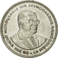Monnaie, Mauritius, 1/2 Rupee, 1990, TTB, Nickel Plated Steel, KM:54 - Maurice