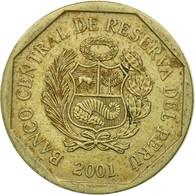 Monnaie, Pérou, 50 Centimos, 2001, Lima, TTB, Copper-Nickel-Zinc, KM:307.4 - Pérou