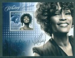 Uganda 2012 Famous People, Music, Female, Whitney Houston MS MUH UGN002 - Uganda (1962-...)
