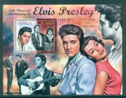 Uganda 2012 Famous People, Music, Male, Elvis Presley MS MUH UGN12203b - Uganda (1962-...)