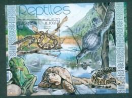 Uganda 2012 Reptiles, Snakes, Chameleon, Tortoise MS MUH UGN12109b - Uganda (1962-...)