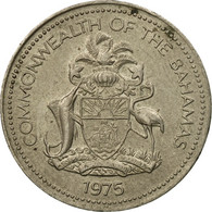 Monnaie, Bahamas, Elizabeth II, 5 Cents, 1975, Franklin Mint, TTB - Bahamas