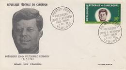 Enveloppe  FDC  1er  Jour    CAMEROUN    Président   John  KENNEDY   1964 - Kennedy (John F.)
