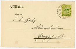 Nr. 328 A - EF Postkarte Aus KAUFBEUREN - Lettres & Documents