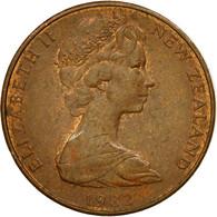 Monnaie, Nouvelle-Zélande, Elizabeth II, 2 Cents, 1982, TTB, Bronze, KM:32.1 - New Zealand