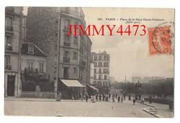 CPA - Place De La Gare Ouest Ceinture, Bien Animée En 1916 - PARIS 14ème Arr. 75 Seine - N° 695 - Edit. F. F. Paris - District 14