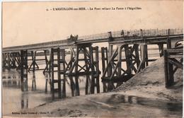 L'AIGUILLON SUR MER-LE PONT RELIANT LA FAUTE A L'AIGUILLON - France