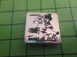1018A Pin's Pins / Rare Et De Belle Qualité / THEME SPORTS : PING-PONG ANGERS TENNIS DE TABLE - Tennis