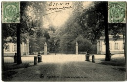 Belgique Morlanwelz Mariemont Entrée Principale Du Parc 1909 - Morlanwelz
