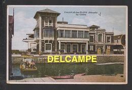 DD / 34 HERAULT / PALAVAS LES FLOTS / LE CASINO ET LE BAC PORTANT UNE PUBLICITÉ POUR LA GROTTE DES DEMOISELLES / 1934 - Palavas Les Flots