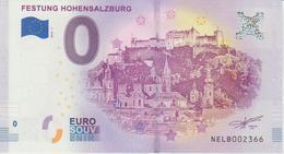 Billet Touristique 0 Euro Souvenir Autriche Festung Hohensalzburg 2018-1 N°NELB002366 - EURO