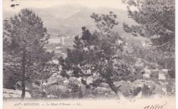 06 Alpes Maritimes - MENTON -  Le Mont D'Ormea - 1904 - Menton