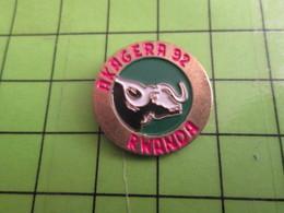 1018A Pin's Pins / Rare Et De Belle Qualité / THEME ANIMAUX : VACHE TAUREAU BUFFLE AKAGERA 92 RWANDA - Animals