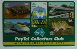 AUSTRALIA - PayTel - $5 - Complimentary Advertising - 1999 Collectors Club Membership Card - MINT In Folder - Australia