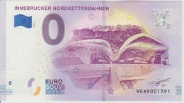 Billet Touristique 0 Euro Souvenir Autriche Innsbrucker Nordkettenbahnen 2018-1 N°NEAH001391 - EURO