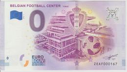 Billet Touristique 0 Euro Souvenir Belgique Belgian Football Center 2018-1 N°ZEAF000167 - EURO