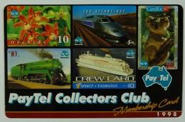 AUSTRALIA - PayTel - $5 - Complimentary Advertising - 1998 Collectors Club Membership Card - MINT In Folder - Australia