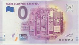 Billet Touristique 0 Euro Souvenir Belgique Musée Européen Schengen 2018-1 N°ZEAH000165 - EURO