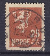 Norway 1927 Mi. 125 A   25 Øre Wappenlöwe Deluxe ELVERUM  1930 Cancel !! - Gebraucht
