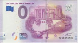 Billet Touristique 0 Euro Souvenir Belgique Bastogne War Museum 2018-1 N°ZEHP010109 - EURO