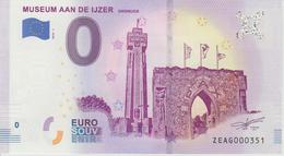 Billet Touristique 0 Euro Souvenir Belgique Museum Aan De Ijzer 2018-1 N°ZEAG000351 - EURO